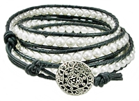 Swarovski Pearl & Leather Bracelet