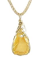 Butterscotch Pineapple Druzy Necklace